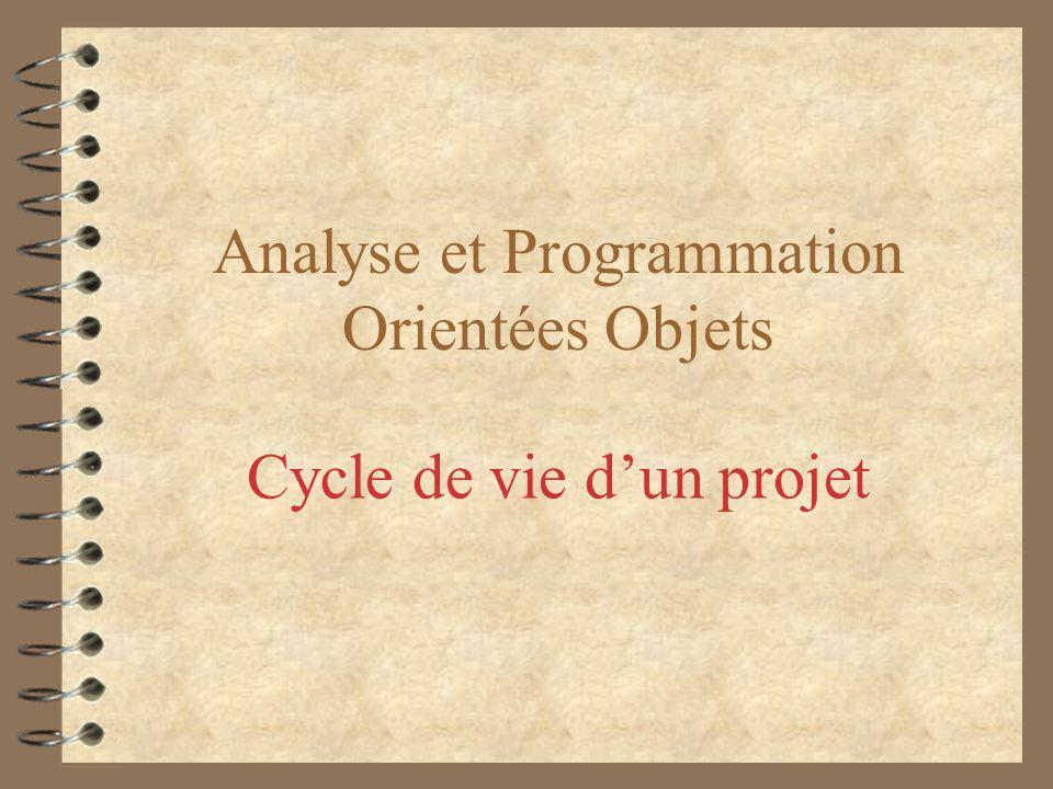 Analyse et Programmation Orientées Objets Cycle de vie dun projet