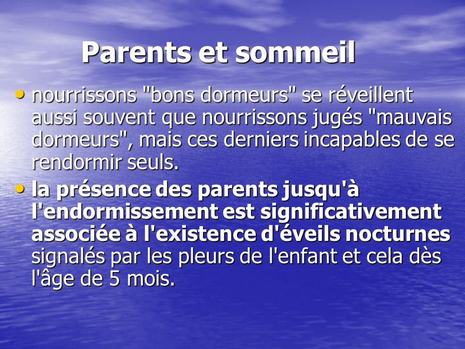 Parents et sommeil nourrissons