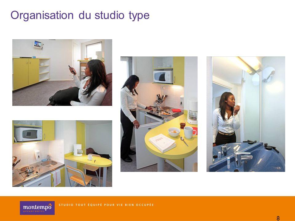 8 Organisation du studio type