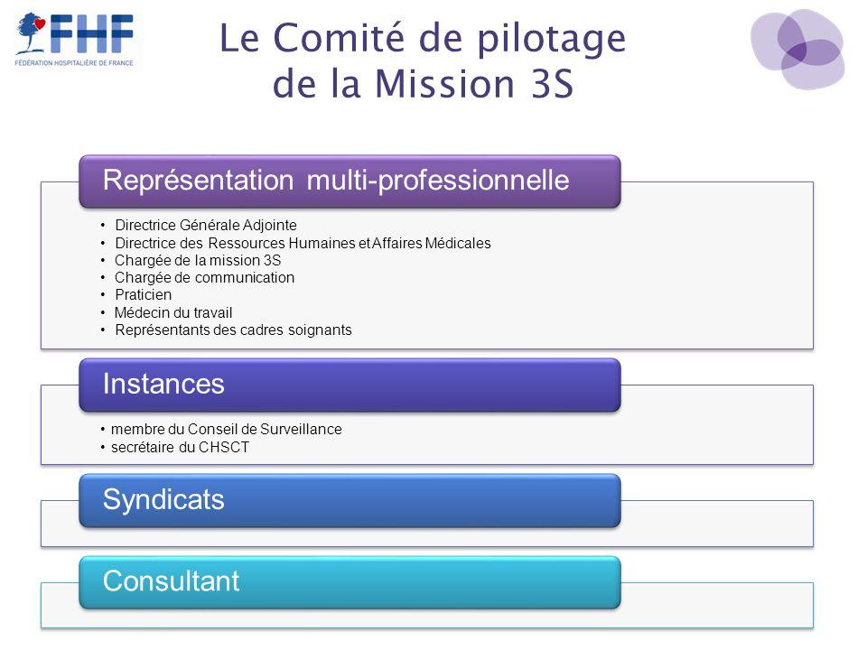 Le Comité de pilotage de la Mission 3S Directrice Générale Adjointe Directrice des Ressources Humaines et Affaires Médicales Chargée de la mission 3S