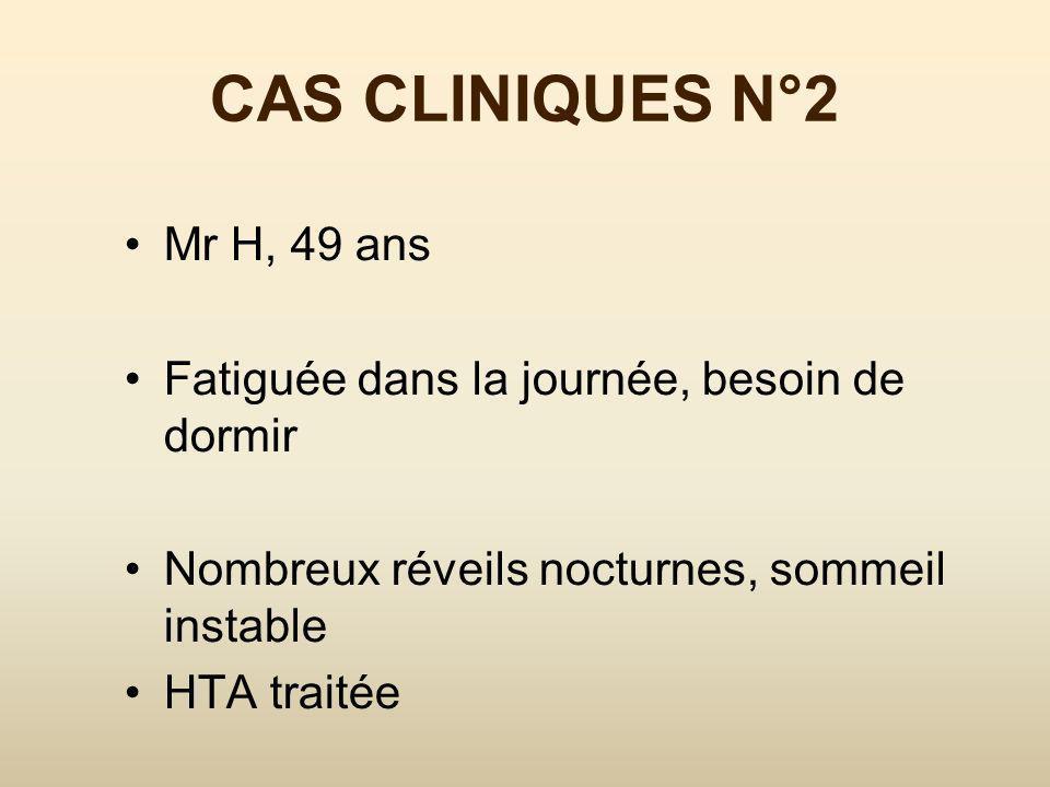 CAS CLINIQUES N°1 Narcolepsie Reposée par ses siestes Doit sasseoir quand elle rit Impressions étranges quand elle sendort