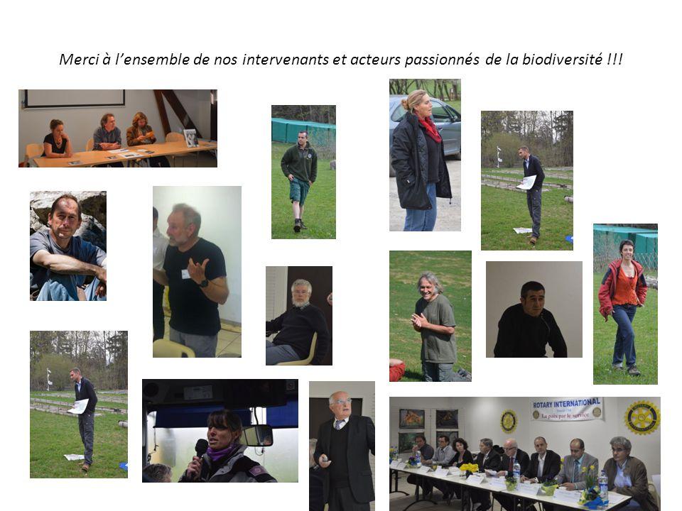 Merci à lensemble de nos intervenants et acteurs passionnés de la biodiversité !!!