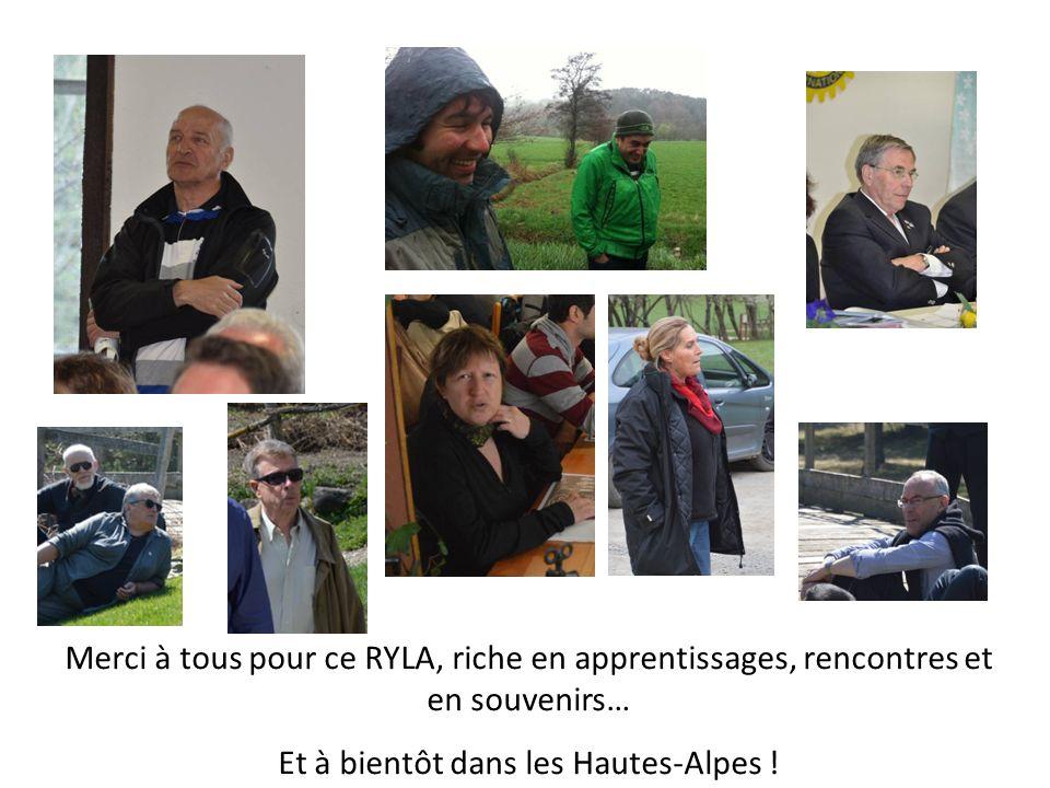 Merci à tous pour ce RYLA, riche en apprentissages, rencontres et en souvenirs… Et à bientôt dans les Hautes-Alpes !