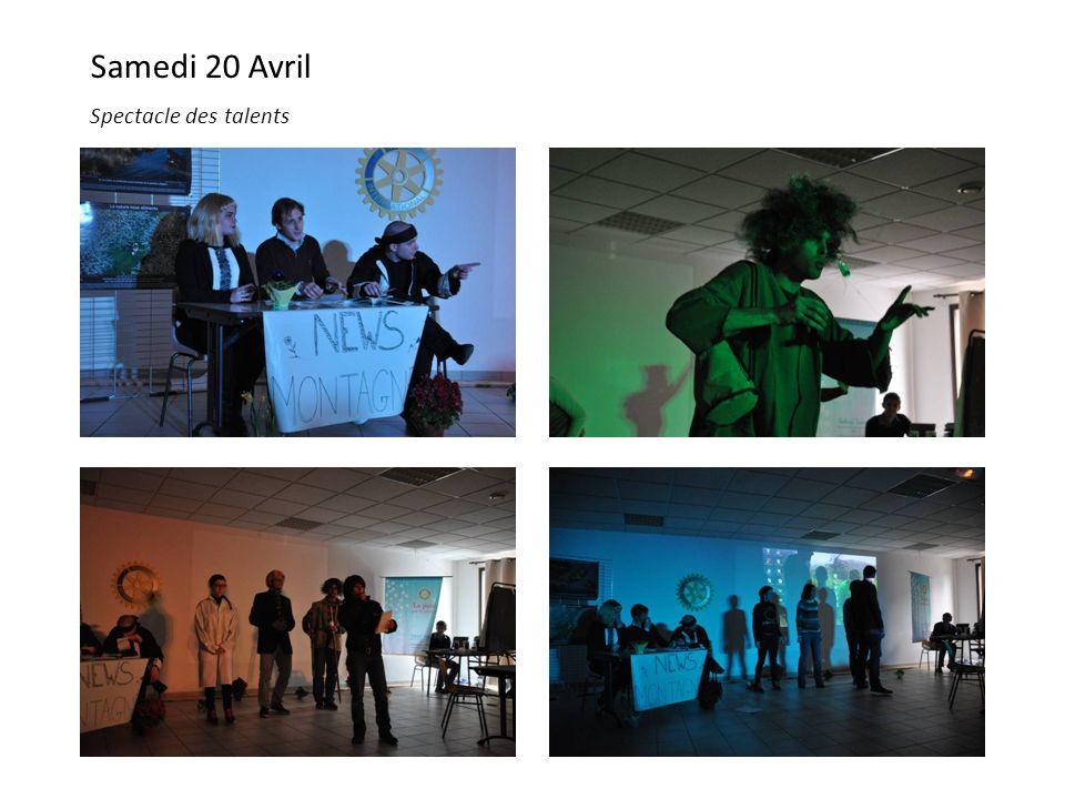 Samedi 20 Avril Spectacle des talents