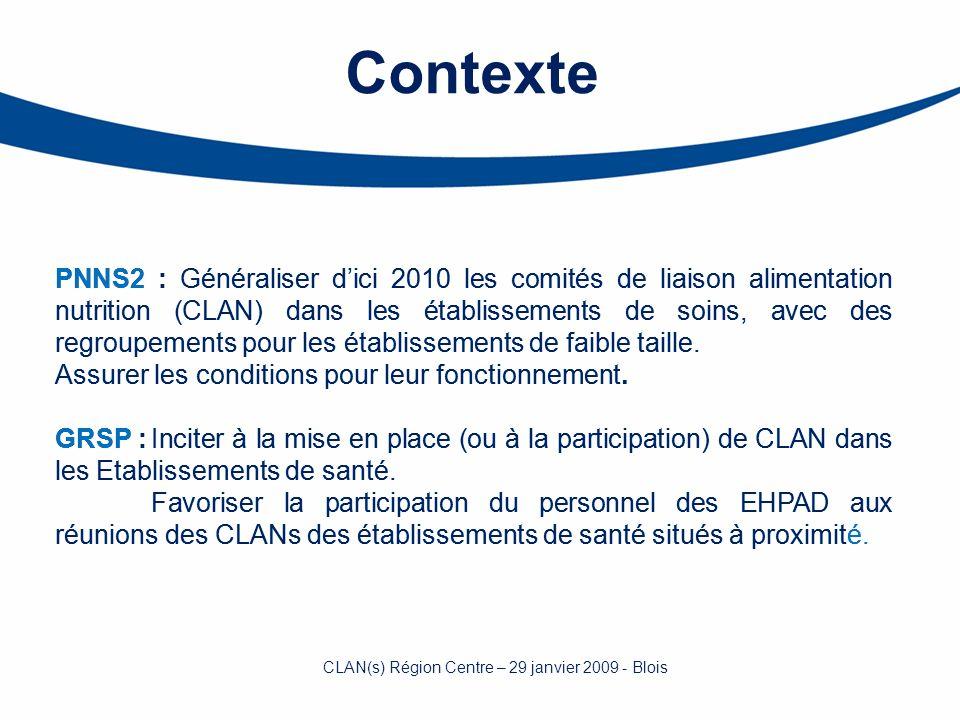 PNNS2 : Généraliser dici 2010 les comités de liaison alimentation nutrition (CLAN) dans les établissements de soins, avec des regroupements pour les é