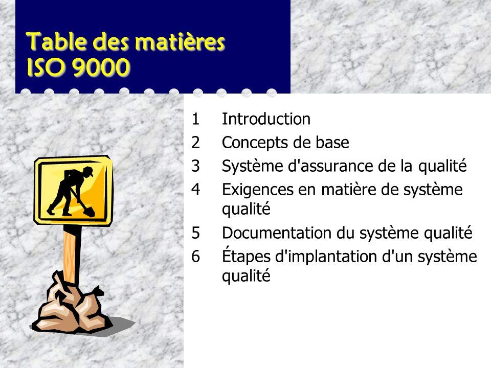 ISO 9000 Implantation et documentation