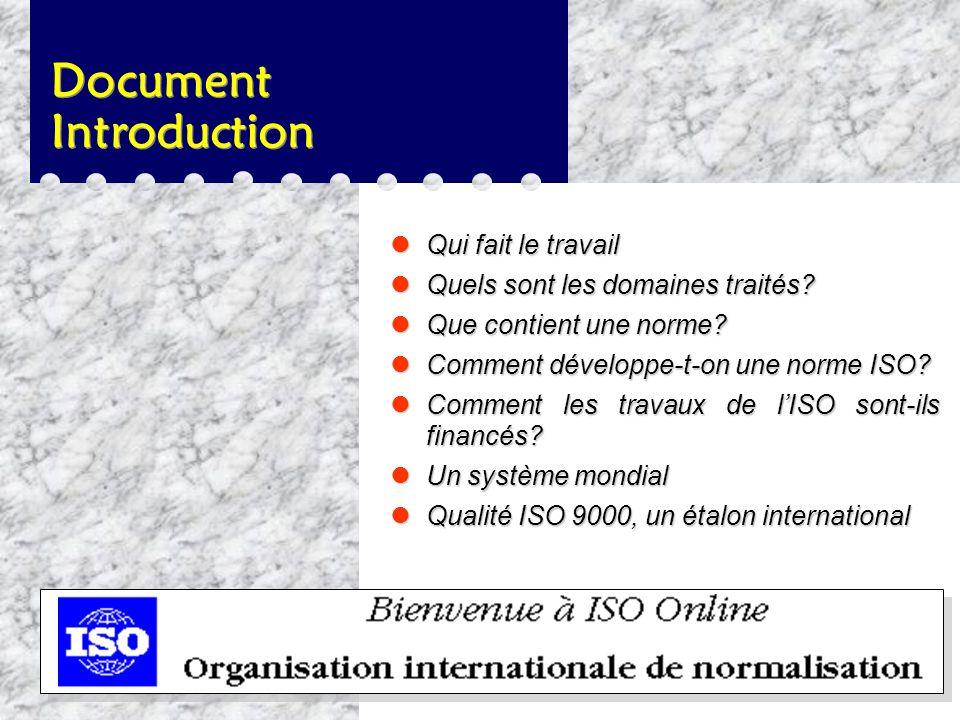 Qui sont les membres de lISO ? l Un comité membre de l'ISO est l'organisme national «le plus représentatif de la normalisation dans son pays». Il en d