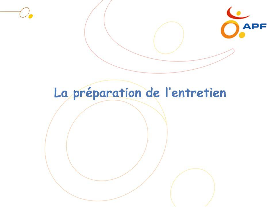 La préparation de lentretien