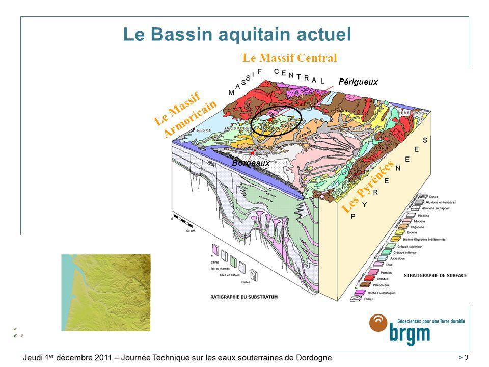 Service Géologique Régional Aquitaine > 4 Formations rencontrées dans le Bassin aquitain Dordogne