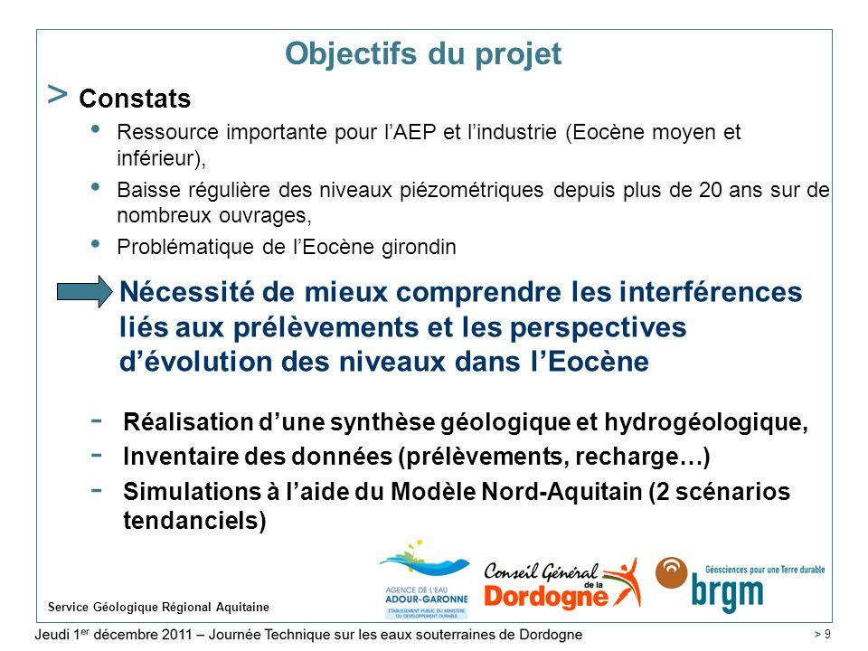 Jeudi 1 er décembre 2011 – Journée Technique sur les eaux souterraines de Dordogne Karsts de Dordogne Service Géologique Régional Aquitaine