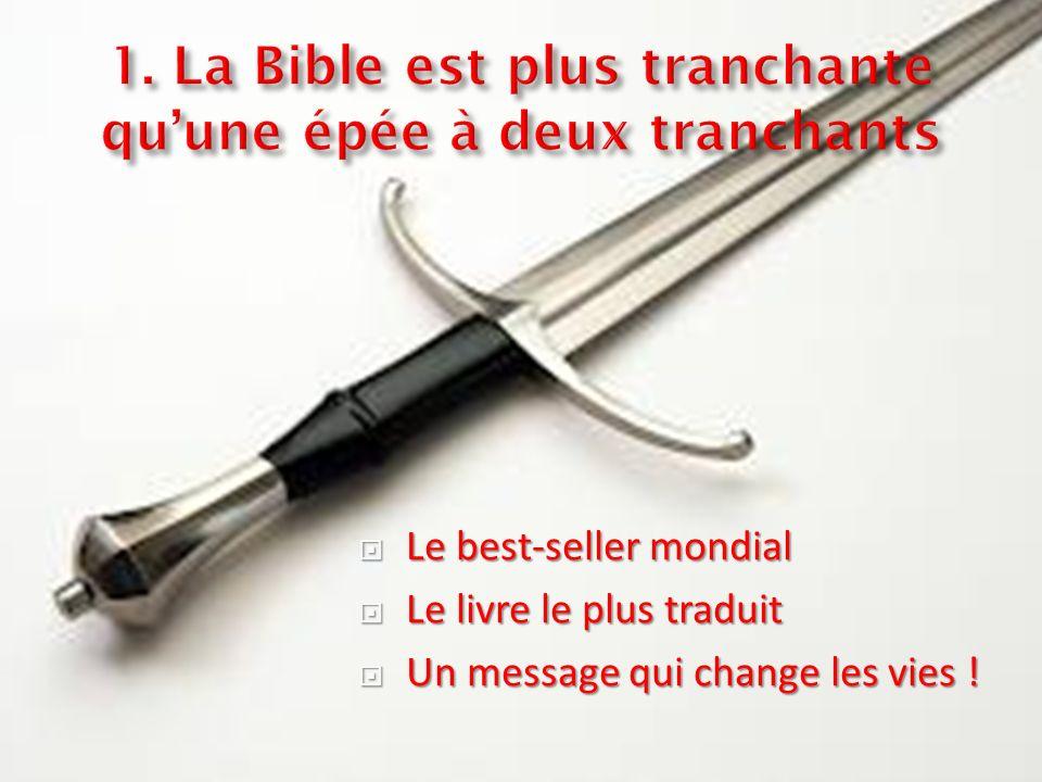 Le best-seller mondial Le best-seller mondial Le livre le plus traduit Le livre le plus traduit Un message qui change les vies .