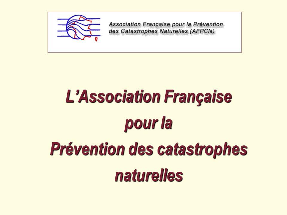 A F P C N Une association indépendante et un forum pour la société civile, Composée de membres de lex Comité français pour la prévention des risques naturels (DIPCN), Ayant une vocation dactions nationale et internationale.