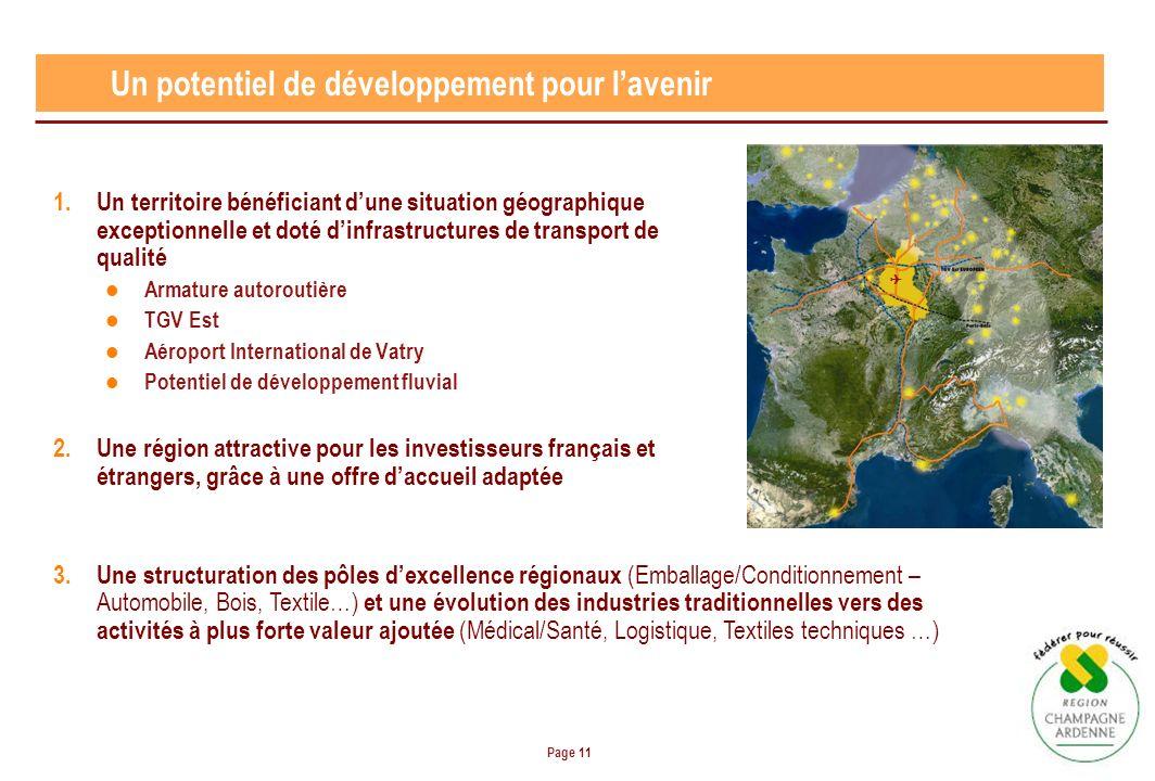 Page 11 1.Un territoire bénéficiant dune situation géographique exceptionnelle et doté dinfrastructures de transport de qualité Armature autoroutière