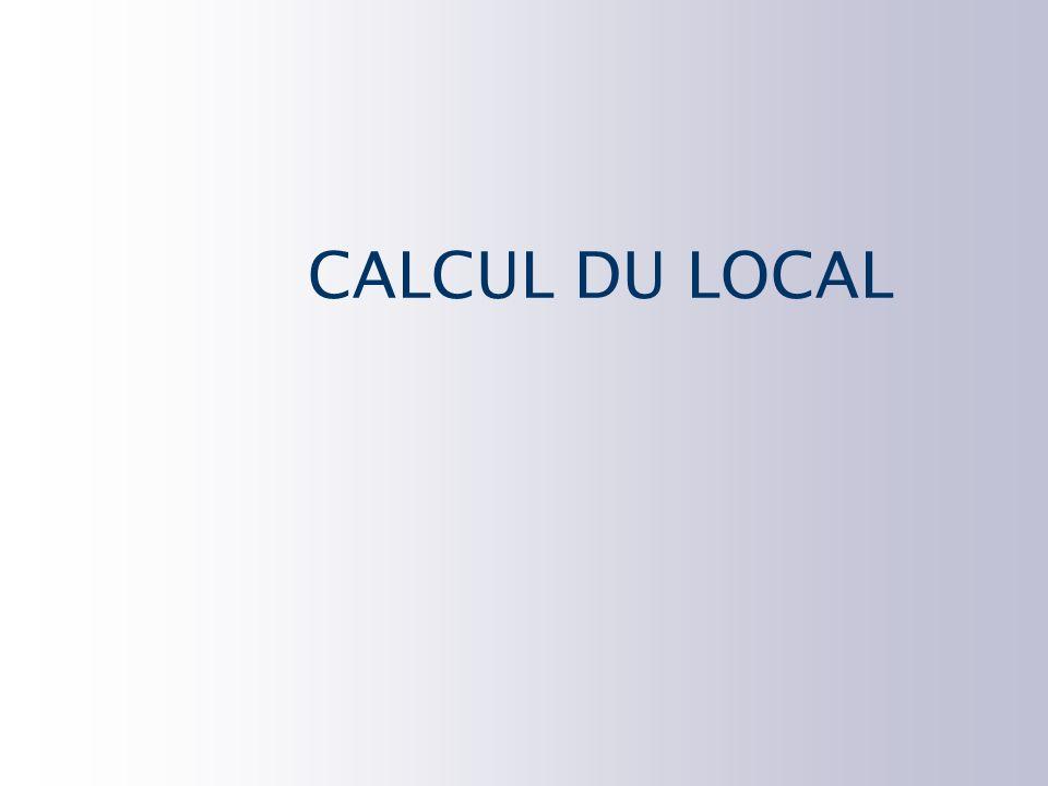 CALCUL DU LOCAL