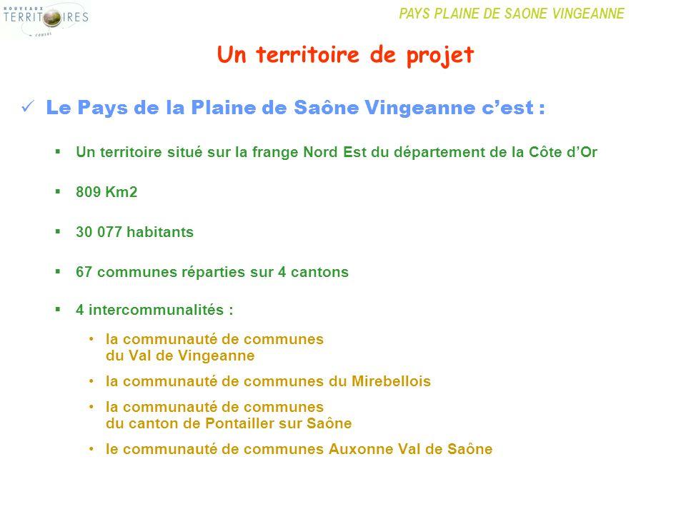 PAYS PLAINE DE SAONE VINGEANNE Un territoire de projet Le Pays de la Plaine de Saône Vingeanne cest : Un territoire situé sur la frange Nord Est du dé