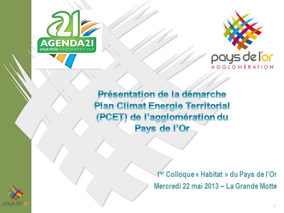 1 er Colloque « Habitat » du Pays de lOr Mercredi 22 mai 2013 – La Grande Motte 1