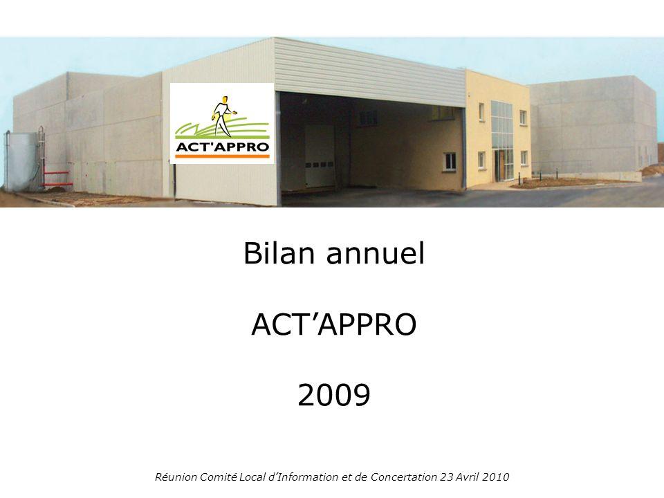 Bilan annuel ACTAPPRO 2009 Réunion Comité Local dInformation et de Concertation 23 Avril 2010