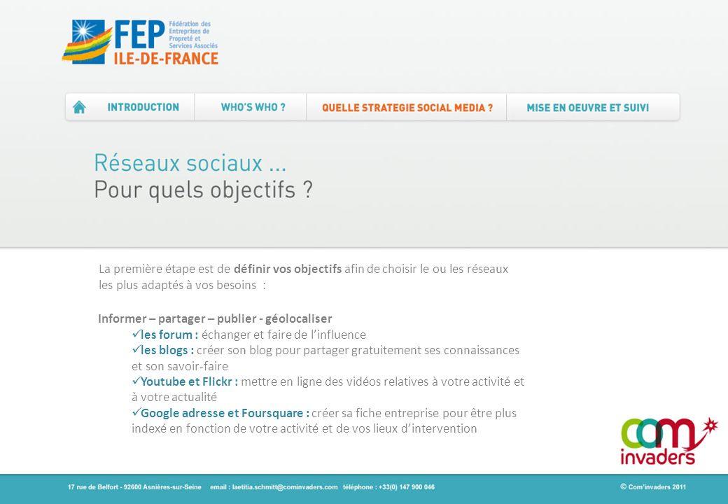 Informer – partager – publier - géolocaliser les forum : échanger et faire de linfluence les blogs : créer son blog pour partager gratuitement ses con