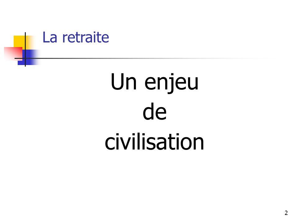 2 La retraite Un enjeu de civilisation