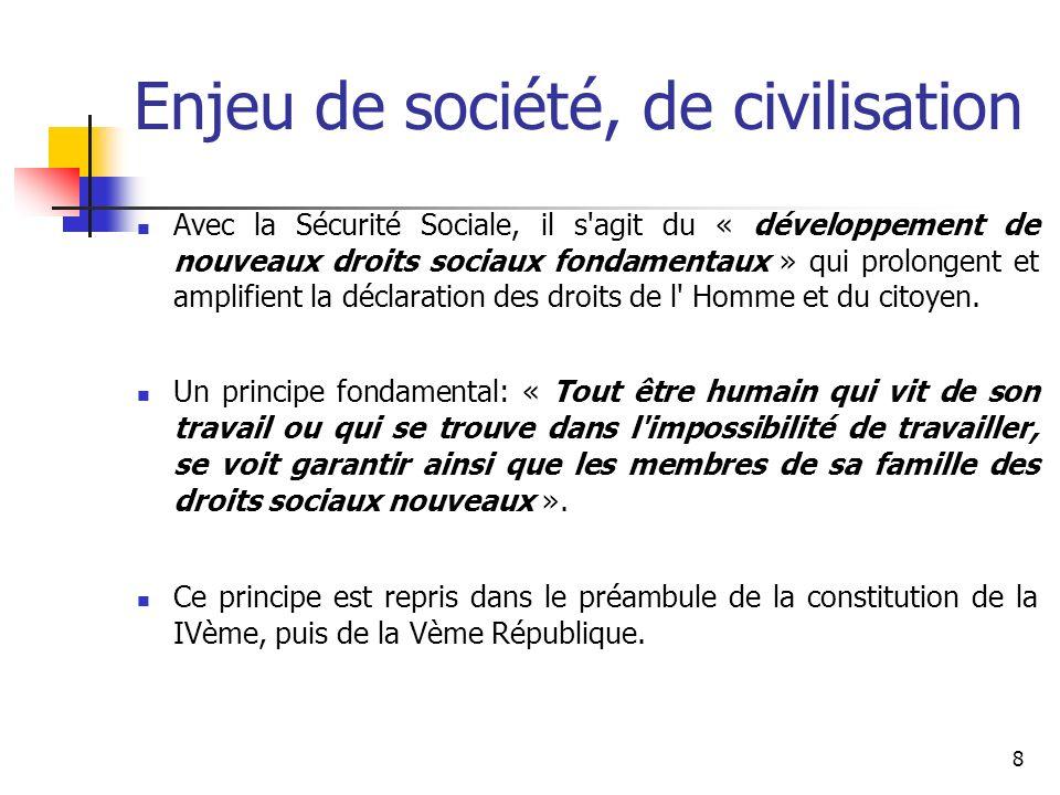 9 Des droits sociaux nouveaux Ces droits nouveaux comprennent: Les risques liés à la maladie.