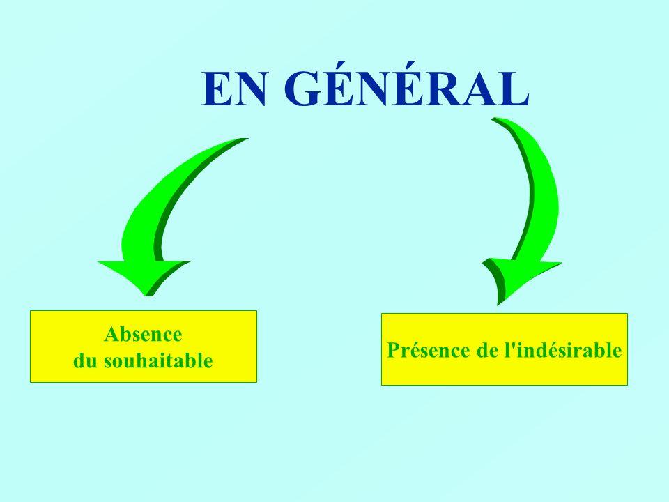 FAMILLES de RISQUES Nuisance - physiques - chimiques Absence -protection.