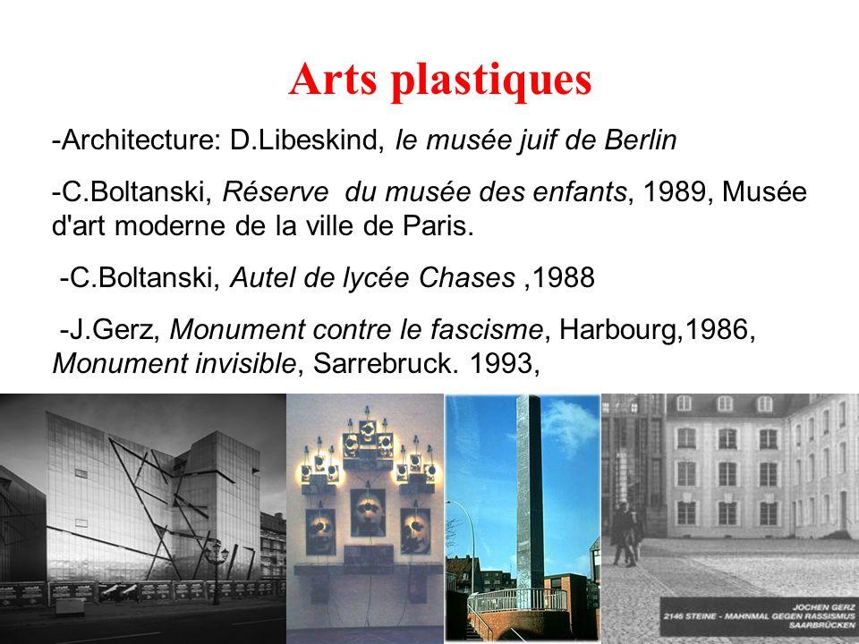 Arts plastiques -Architecture: D.Libeskind, le musée juif de Berlin -C.Boltanski, Réserve du musée des enfants, 1989, Musée d'art moderne de la ville