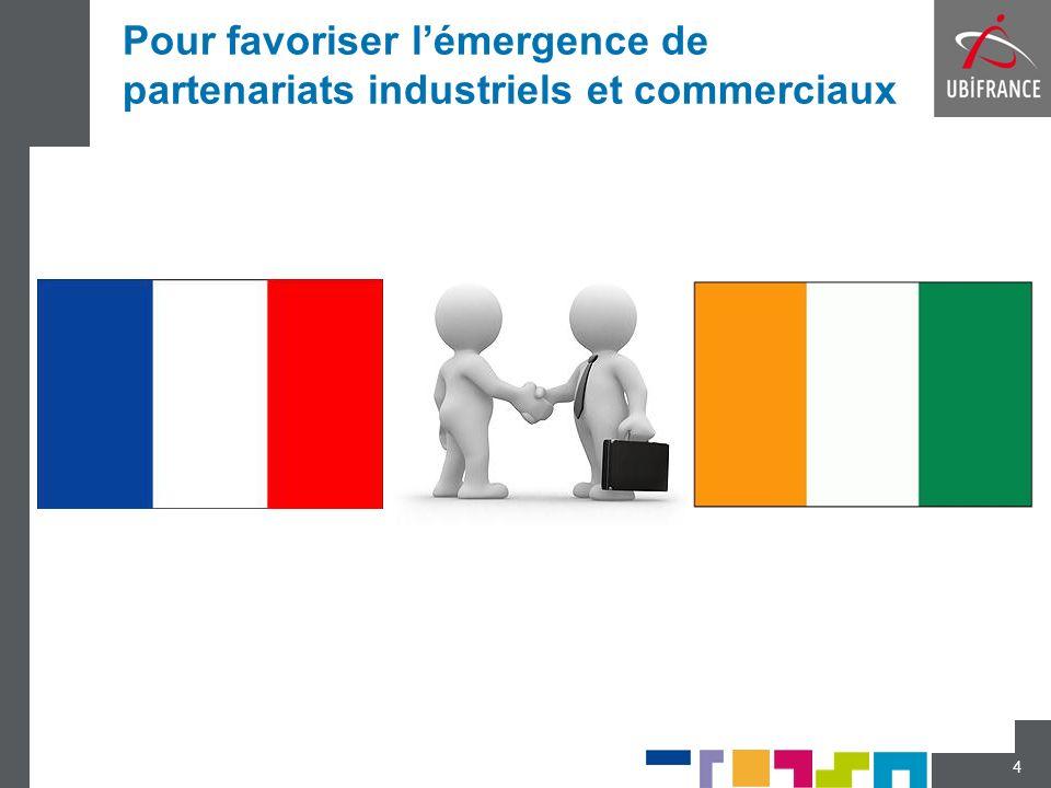 Pour favoriser lémergence de partenariats industriels et commerciaux 4