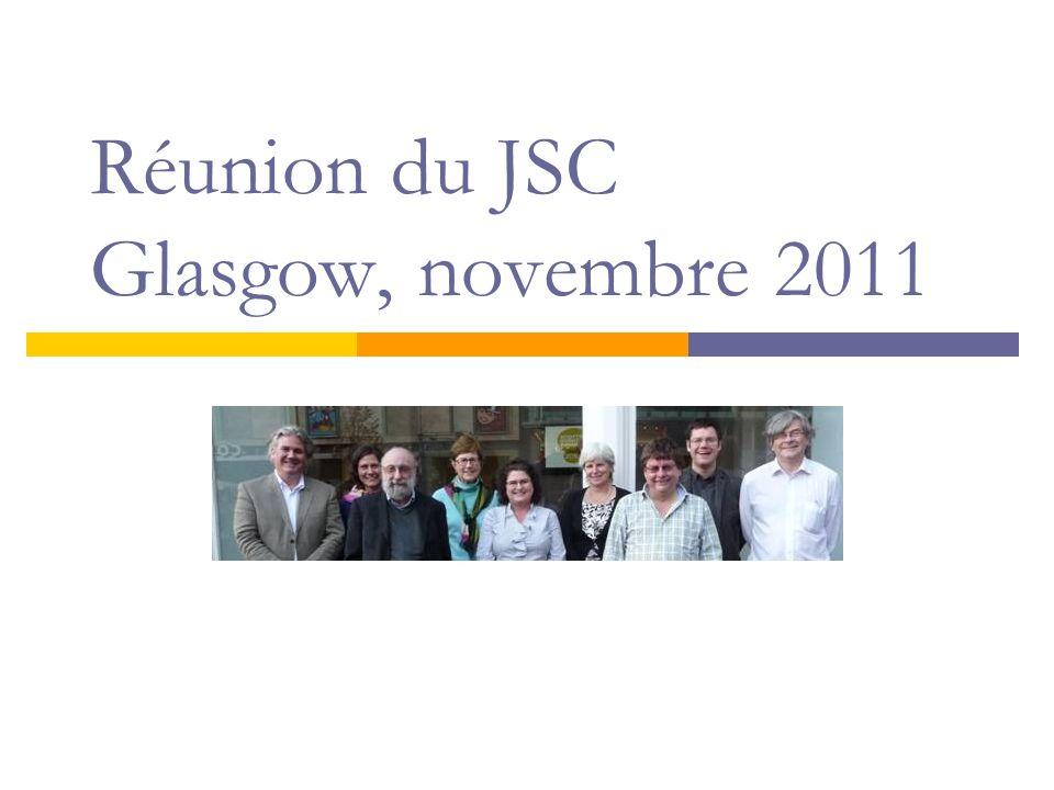 Réunion du JSC Glasgow, novembre 2011