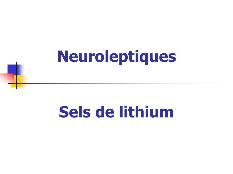 Neuroleptiques Sels de lithium