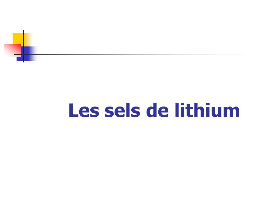 Les sels de lithium