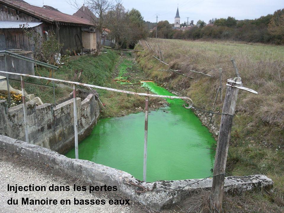 Injection dans les pertes du Manoire en basses eaux