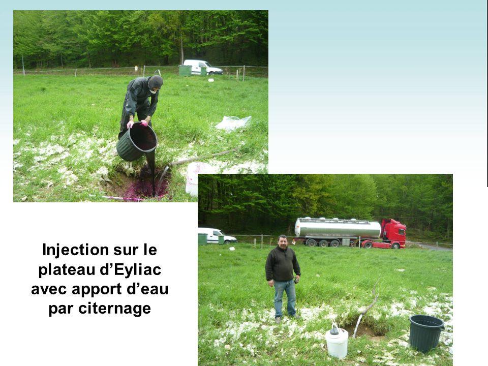 Injection sur le plateau dEyliac avec apport deau par citernage
