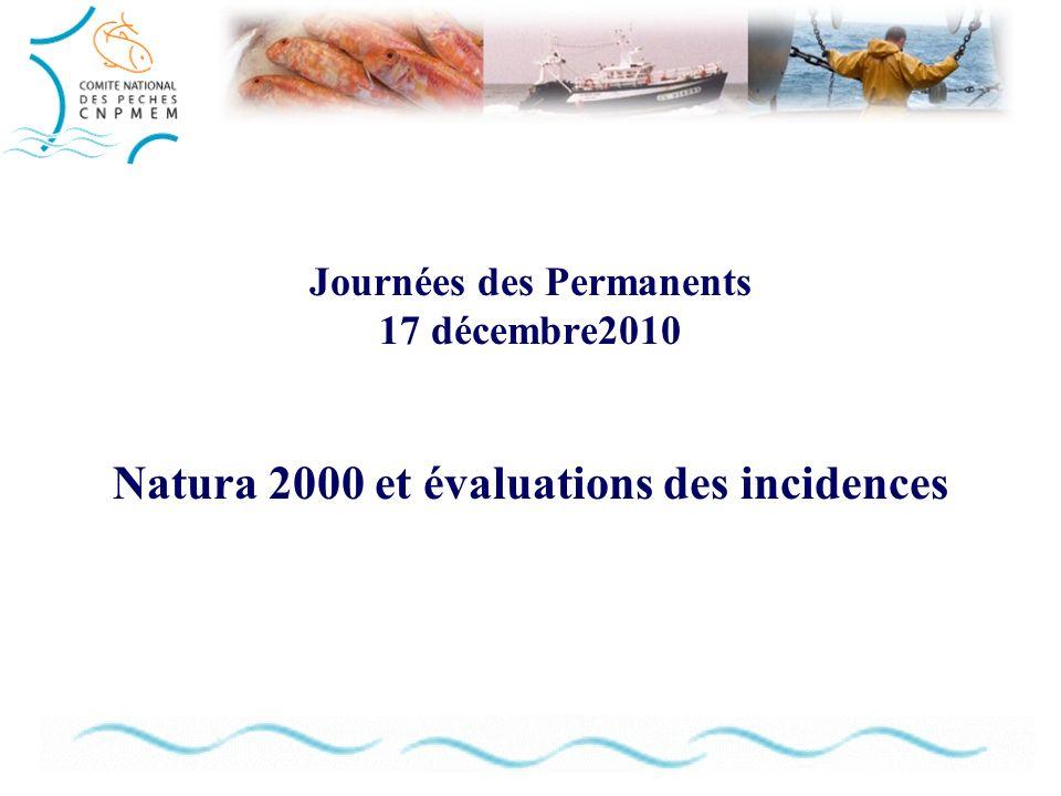 Journées des Permanents 17 décembre2010 Natura 2000 et évaluations des incidences