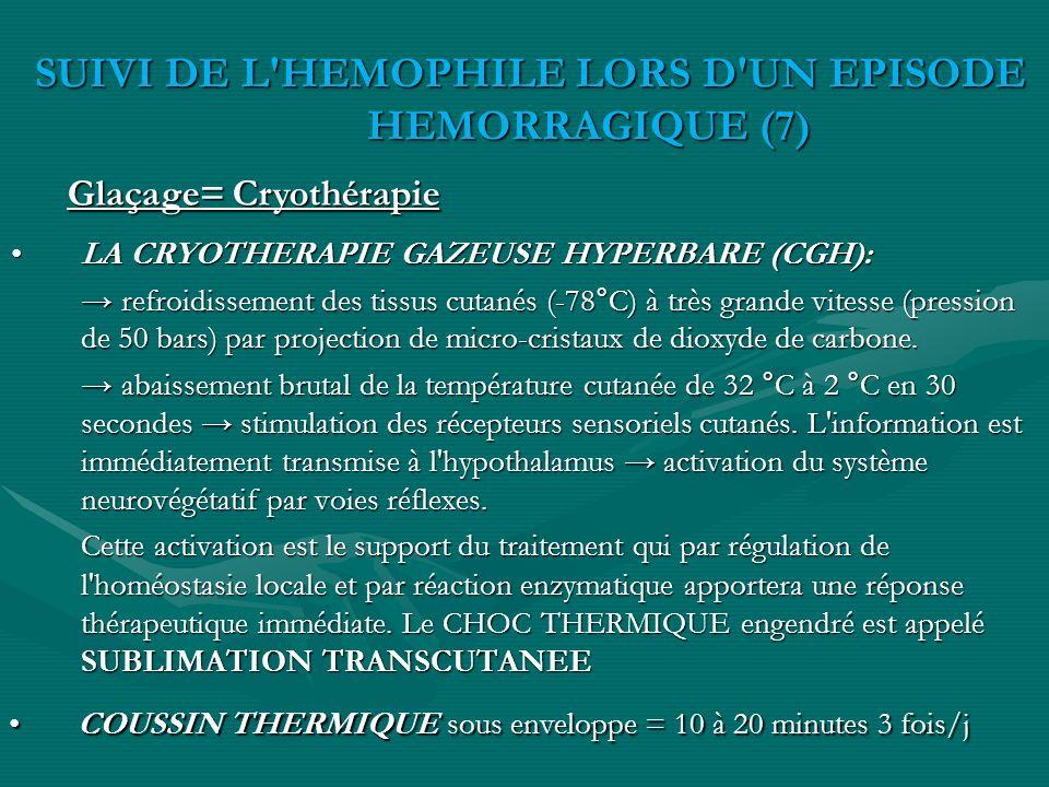 LA CRYOTHERAPIE GAZEUSE HYPERBARE (CGH):LA CRYOTHERAPIE GAZEUSE HYPERBARE (CGH): refroidissement des tissus cutanés (-78°C) à très grande vitesse (pre