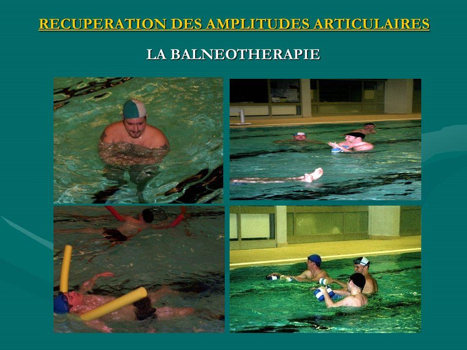 RECUPERATION DES AMPLITUDES ARTICULAIRES LA BALNEOTHERAPIE