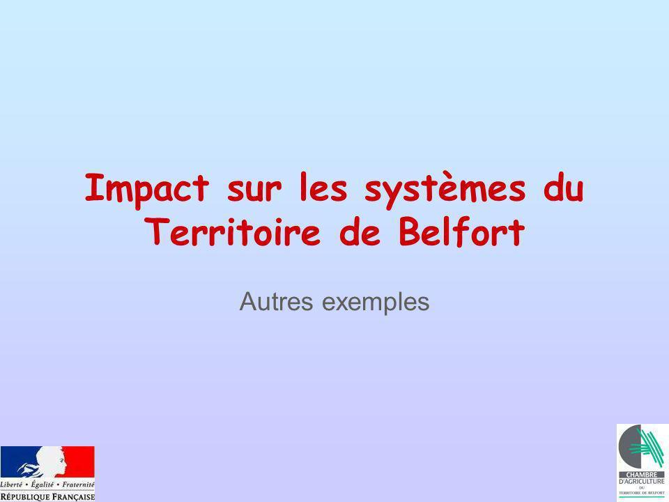 Impact sur les systèmes du Territoire de Belfort Autres exemples