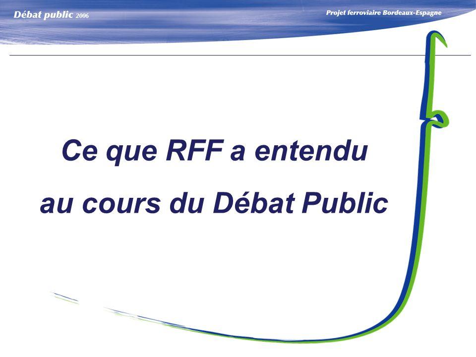 Ce que RFF a entendu au cours du Débat Public