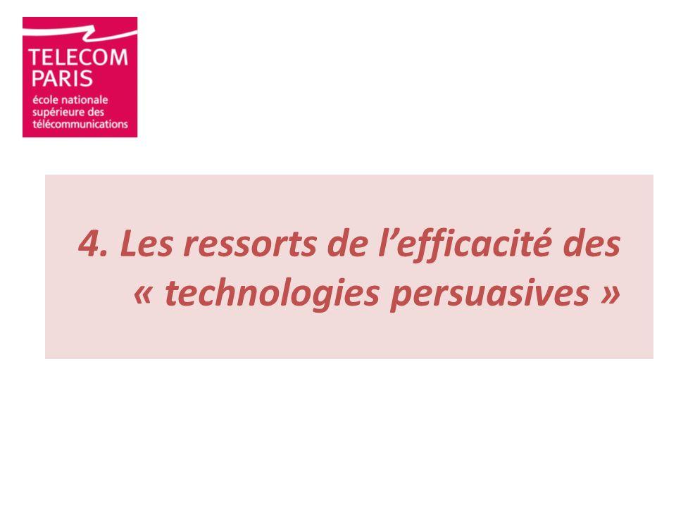4. Les ressorts de lefficacité des « technologies persuasives »