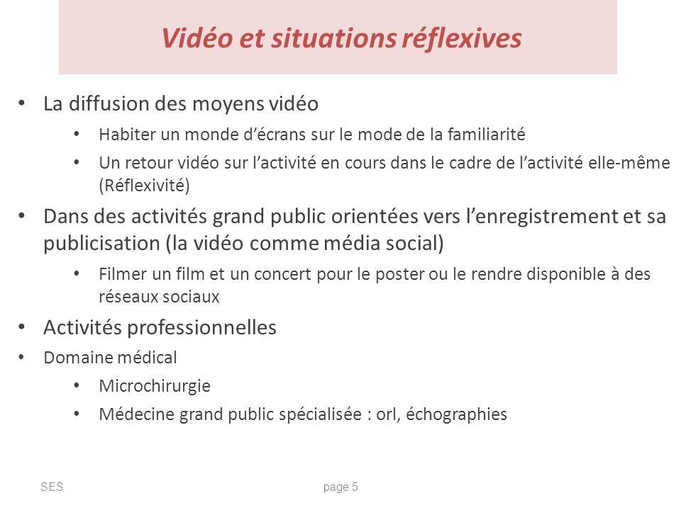 Vidéo et situations réflexives La diffusion des moyens vidéo Habiter un monde décrans sur le mode de la familiarité Un retour vidéo sur lactivité en c