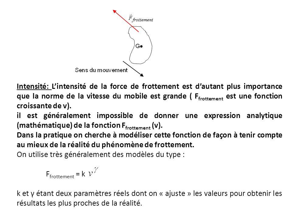 5.Retour sur létude du mouvement de la bille : application de la 2 ème loi de Newton.