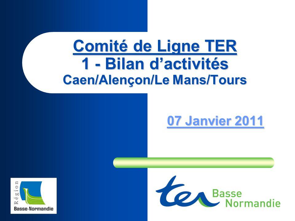 Comité de Ligne TER 1 - Bilan dactivités Caen/Alençon/Le Mans/Tours 07 Janvier 2011