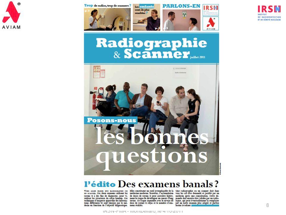 2ème Réunion du Comité de Pilotage - Suivi du Protocole de coopération IRSN-PMA - Montbéliard, le 4/10/2011 8