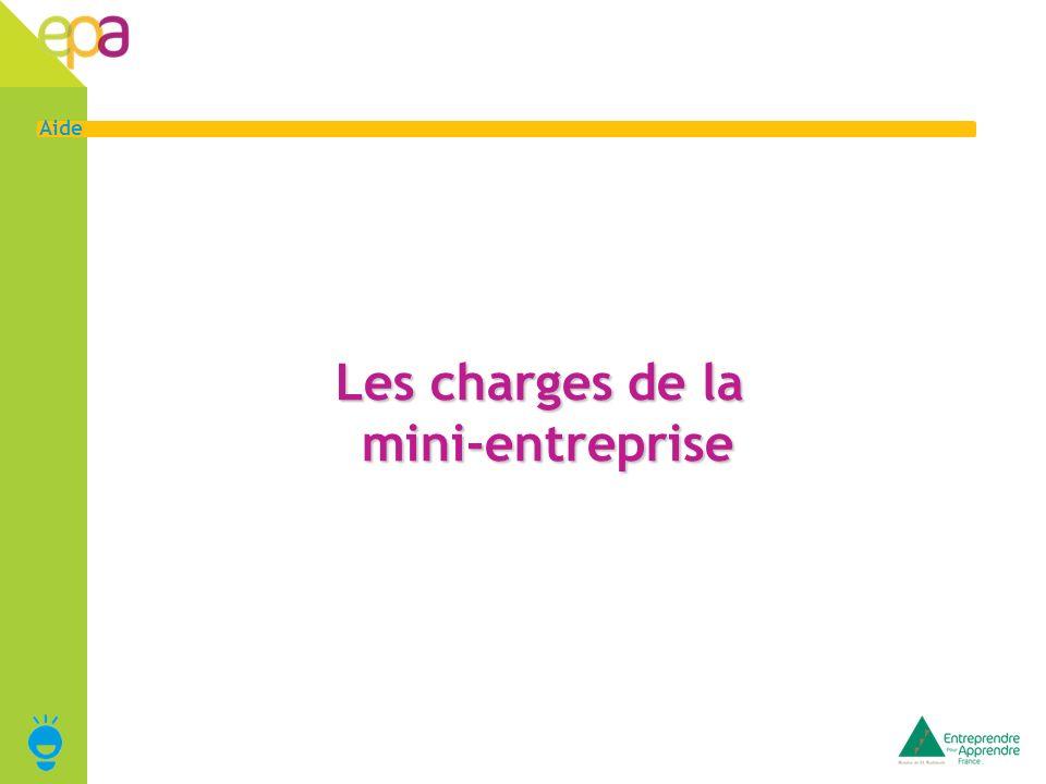 5 Aide Les charges fixes de la mini-entreprise Le service financier doit dans un premier temps calculer les charges fixes : les charges qui ne varieront pas quelque soit le nombre de produits fabriqués et/ou vendus.