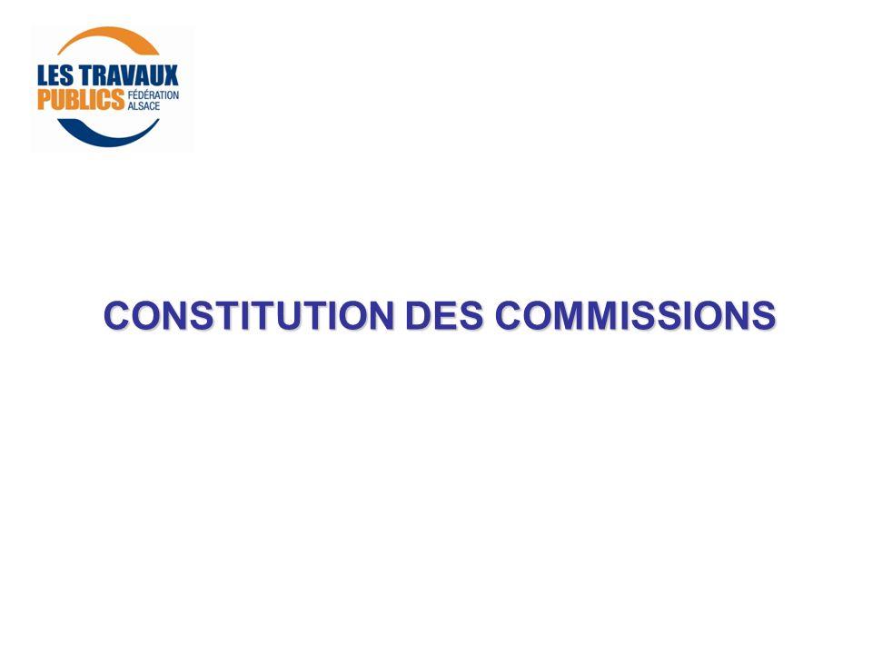 CONSTITUTION DES COMMISSIONS
