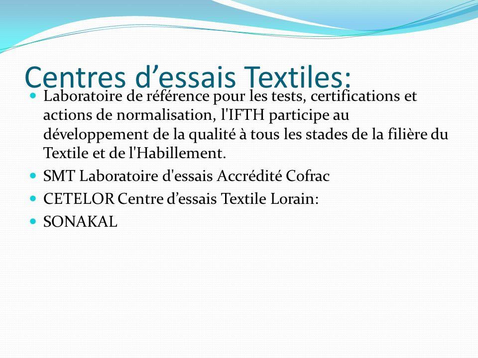 Centres dessais Textiles: Laboratoire de référence pour les tests, certifications et actions de normalisation, l'IFTH participe au développement de la