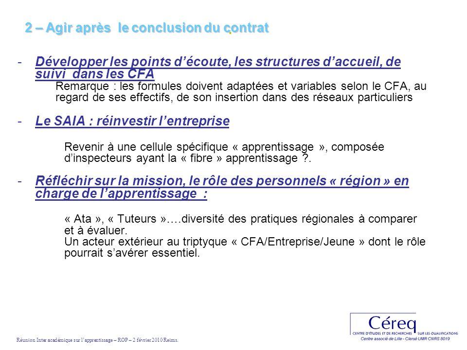 . -Développer les points découte, les structures daccueil, de suivi dans les CFA Remarque : les formules doivent adaptées et variables selon le CFA, a