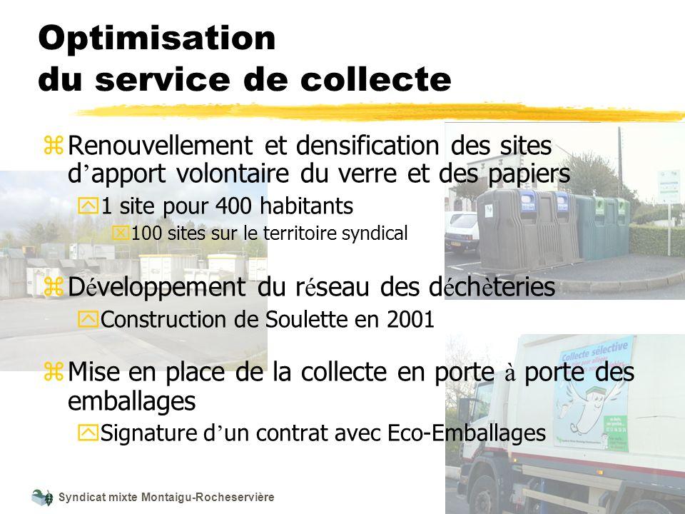 Syndicat mixte Montaigu-Rocheservière Optimisation du service de collecte z Renouvellement et densification des sites d apport volontaire du verre et