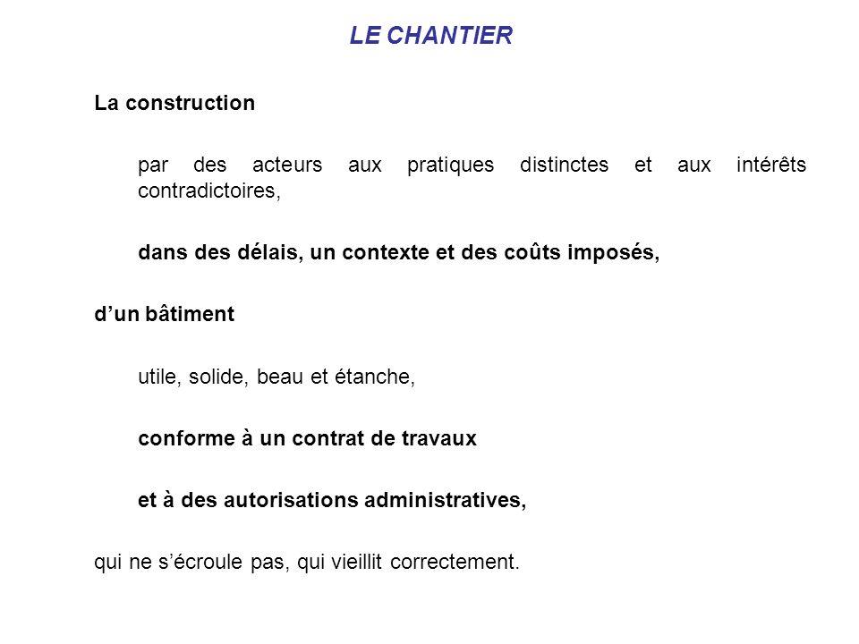 LES PROBLEMATIQUES DU CHANTIER Des problématiques réglementaires Des problématiques contractuelles.