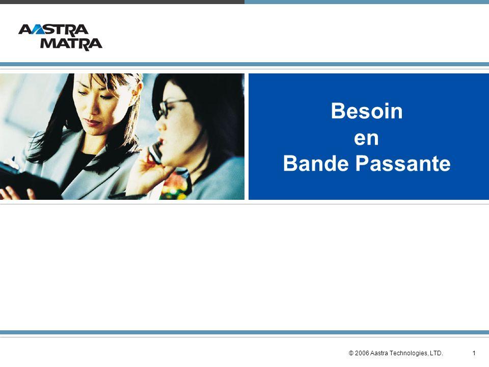 12© 2006 Aastra Technologies, LTD. Mesure de la perte de données