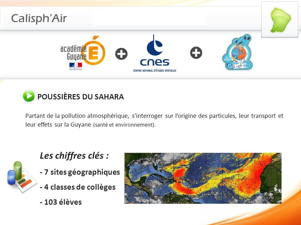 CalisphAir POUSSIÈRES DU SAHARA Partant de la pollution atmosphérique, sinterroger sur lorigine des particules, leur transport et leur effets sur la G